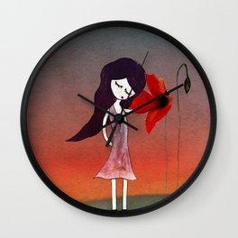 La fleur sans voix Wall Clock