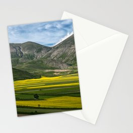 The fields of Castelluccio Stationery Cards