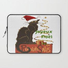 Joyeux Noel Le Chat Noir Christmas Parody Laptop Sleeve