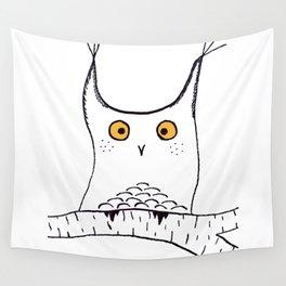Squarish Owl Wall Tapestry