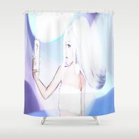 selfie Shower Curtains featuring Selfie by Candy.