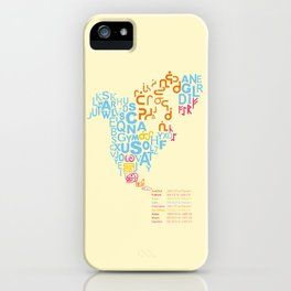 North America ~ Writing Sistems iPhone Case