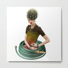 Green Garden by Lenka Laskoradova Metal Print