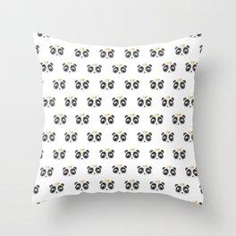 Panda King [Pattern] Throw Pillow