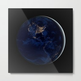 City Lights (Globe) Metal Print