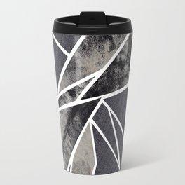 black and white flower Travel Mug