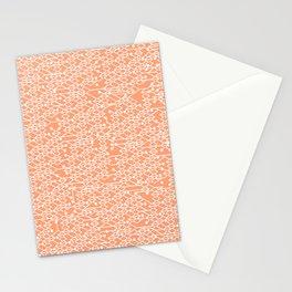 Microchip Pattern (Orange) Stationery Cards