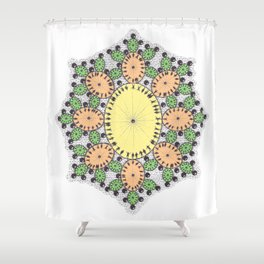Spring Egg Mandala Shower Curtain