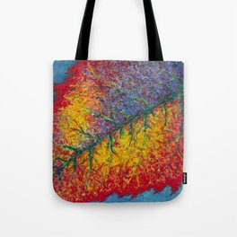 Vibrant Colors in an Autumn Leaf Tote Bag