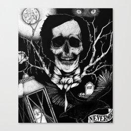 Edgar Allan Poe Nevermore Canvas Print