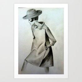 1960's Mod Fashion 3 Art Print