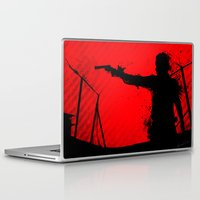 the walking dead Laptop & iPad Skins featuring The Walking Dead Rick by Roboz