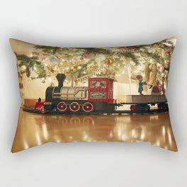 Christmas Tree and Train Rectangular Pillow