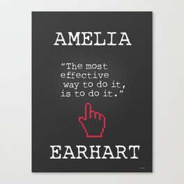 Amelia Earhart quote Canvas Print