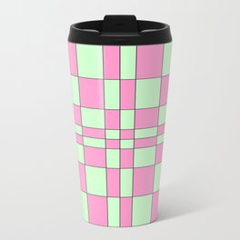 Intersections Pink and Green  Travel Mug