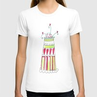 cake T-shirts featuring Cake by Stefania Morgante