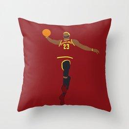 NBA Players   Lebron Dunk Throw Pillow