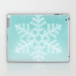 Snowfake Greeting - Ombre Teal Laptop & iPad Skin