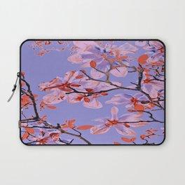 Copper Flowers on violett ground Laptop Sleeve