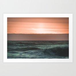 Perfect Ocean Sunset Art Print