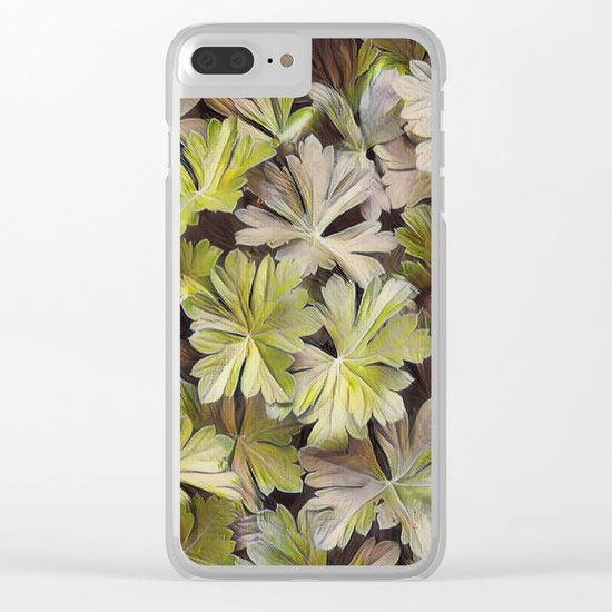 Leafy Abstract Clear iPhone Case