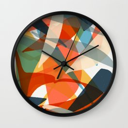 Abstract Fish Wall Clock
