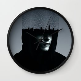 Mr Robot Typography Wall Clock