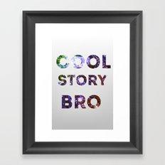 COOL STORY Framed Art Print