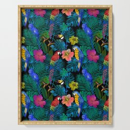 Tropical Birds and Botanicals Serving Tray