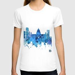 Belfast Northern Ireland Skyline Blue T-shirt