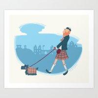 edinburgh Art Prints featuring Edinburgh by smutchy