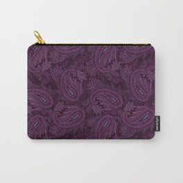 Meredith Paisley - Purple Carry-All Pouch