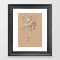 Wired Skull Framed Art Print