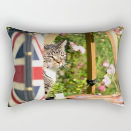Hidden Cat-Eno Rectangular Pillow