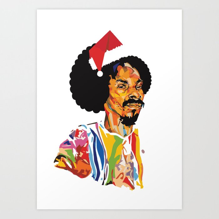 Snoop Dogg Christmas.Merry Christmas Snoop Dogg Art Print By Mcdomos