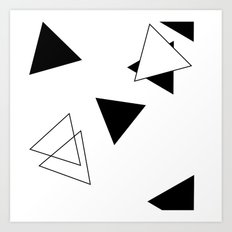 Modern Black Triangles Art Print