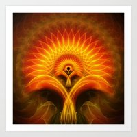 tree of life Art Prints featuring Life Tree by Christine baessler