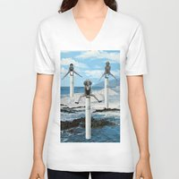 cigarettes V-neck T-shirts featuring cigarettes by •ntpl•