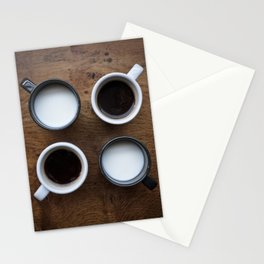 coffee and milk Stationery Cards