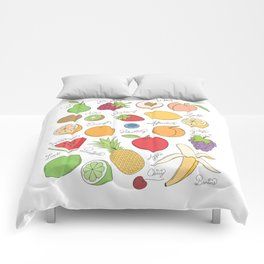 Fruit Doodles Comforters