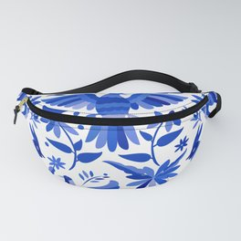 Mexican Otomí Design in Deep Blue Fanny Pack