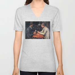 Paul Cézanne - The Card Players Unisex V-Neck