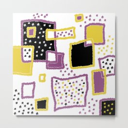 fuzzy rectangles Metal Print