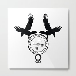 Norse Ravens - Ginfaxi Metal Print