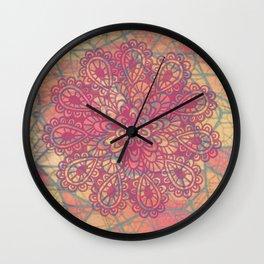 Cracked Ice Cream Mandala Wall Clock