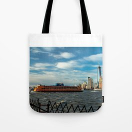 Freedom Tower 2013 w/ Boat Tote Bag