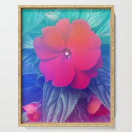 Exotic Flowers Hologram Serving Tray