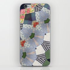 Patchwork Whimsy -- Vintage Block Quilt Mandala Kaleid0scope iPhone & iPod Skin