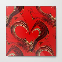 Heart Abstract Metal Print