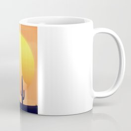 Desert Landscape setting sun. Coffee Mug